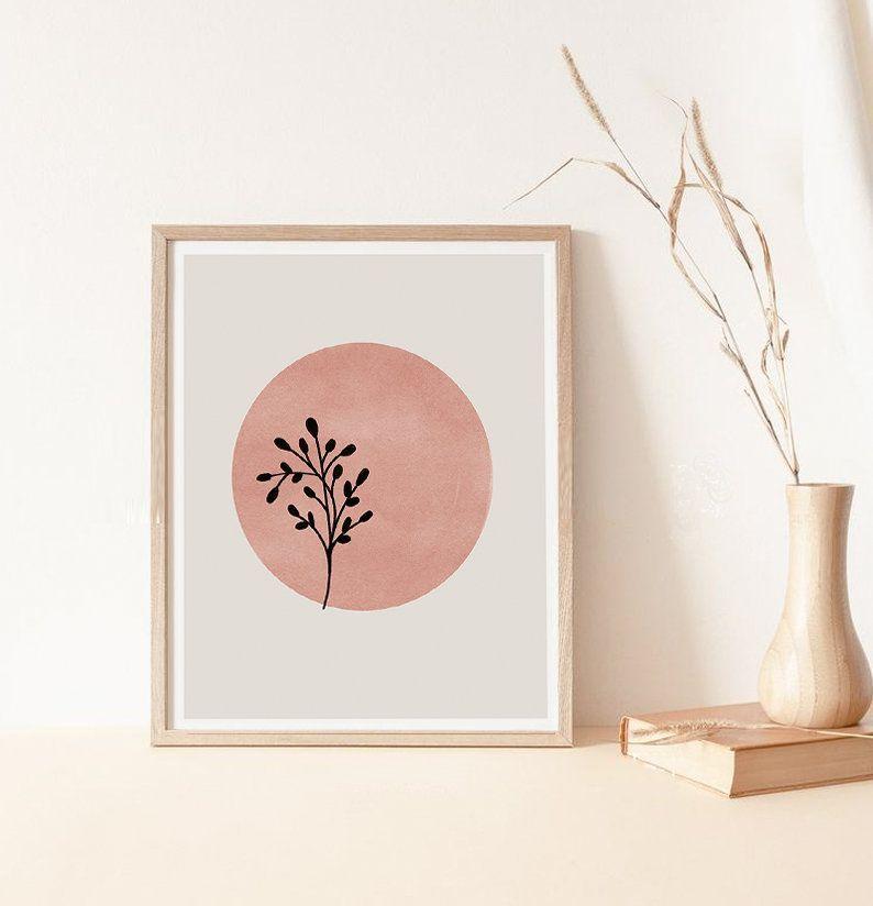 Abstraktes Blatt Wanddruck, Erdton Drucke, nackte Farbe Wanddruck, Modern Neutral Decor, Digi... #earthtones