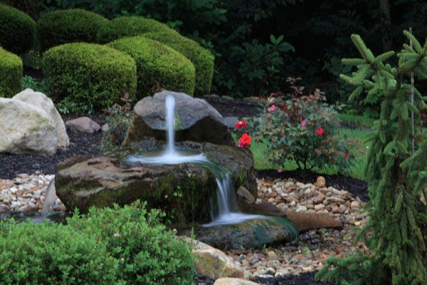 Bubbler Fountains For Patio | Handcarved Natural Stone Rock Bubbler Fountain  Rock Fountain Inlay .