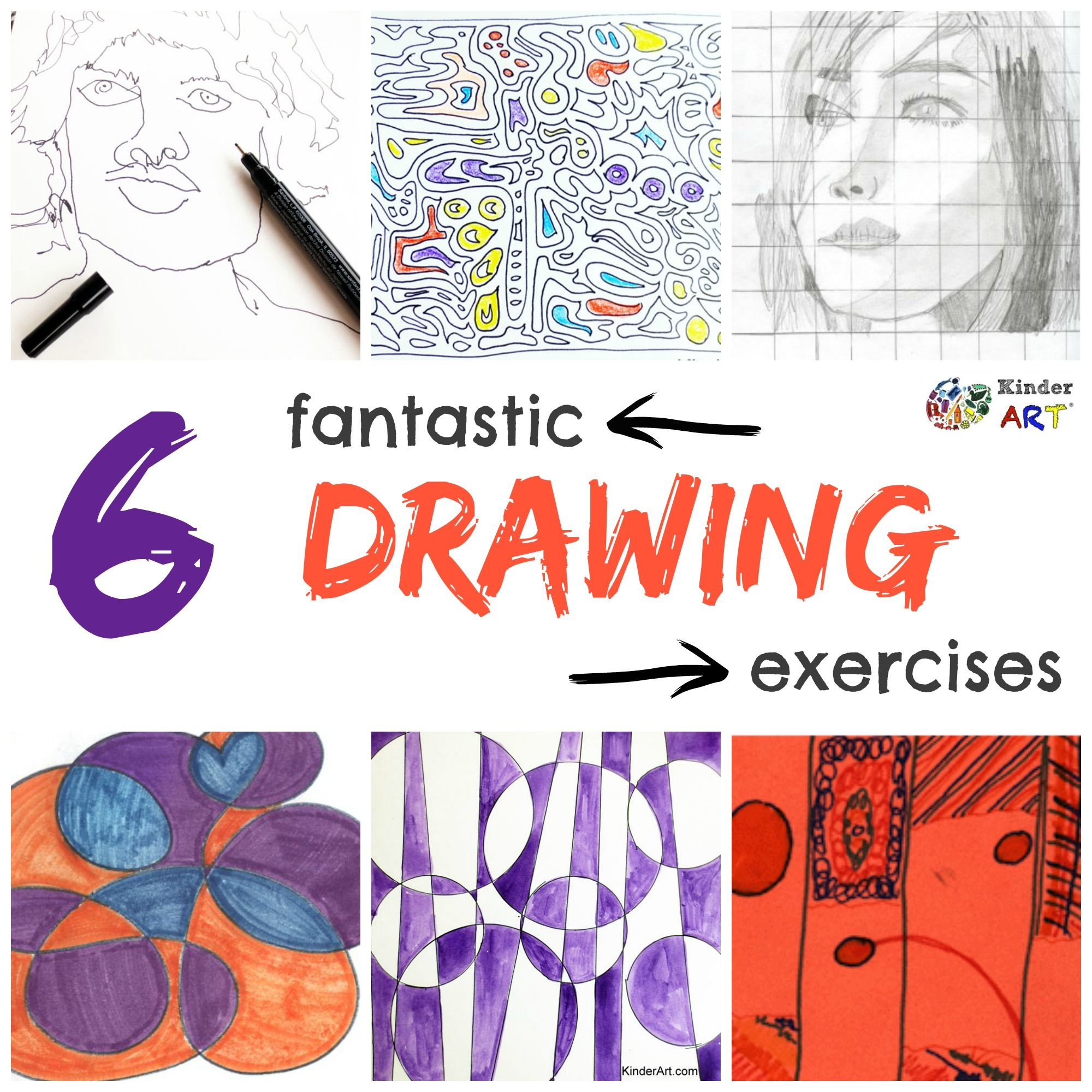6 Fantastic Drawing Exercises Kinderart