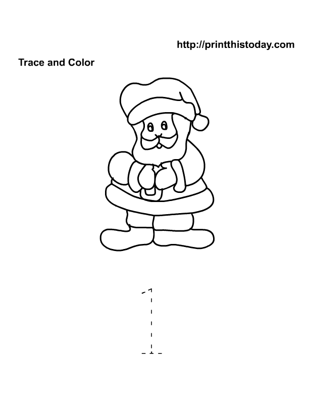 Santa Math Worksheet Number 1 | Free Christmas Printables, Christmas ...