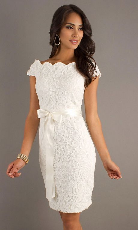 Robe de cocktail blanche en dentelle