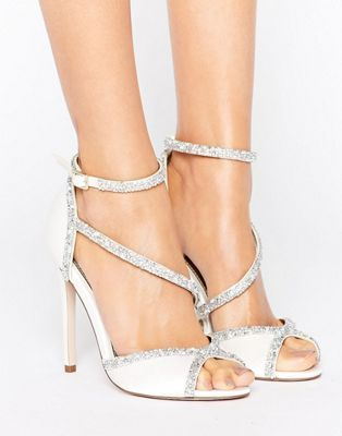 67b1778b2e1 ASOS HIBISCUS Bridal Embellished Heeled Sandals