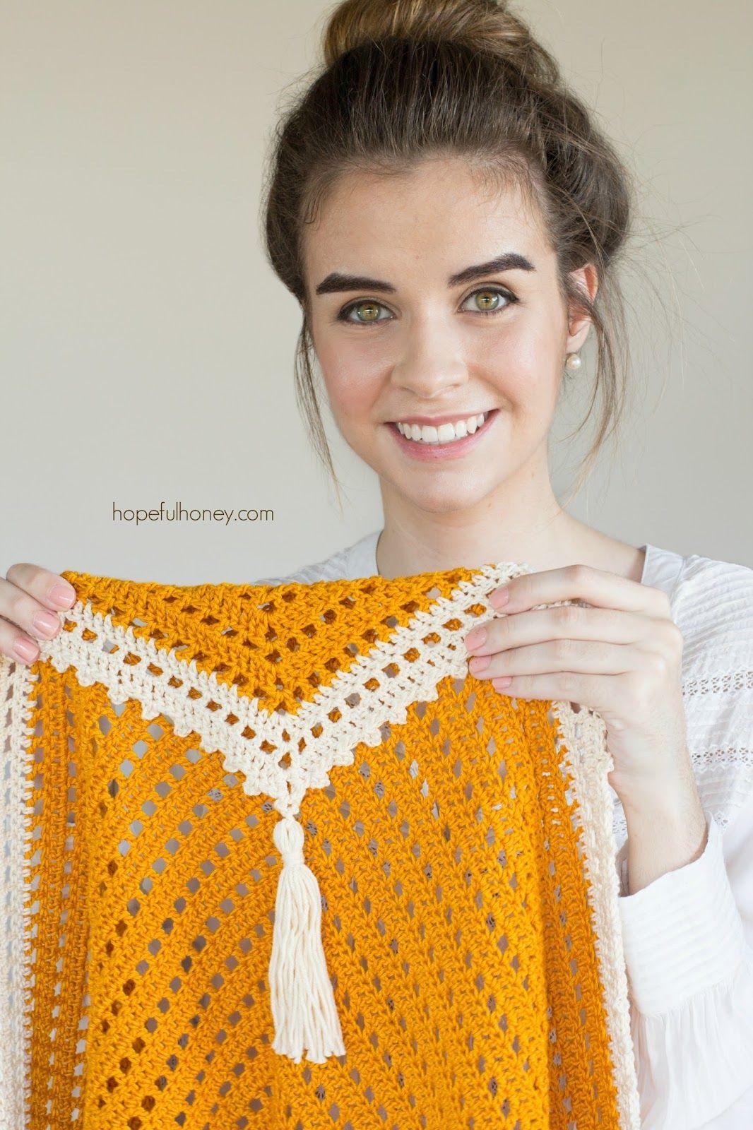 Honey Bird Triangle Scarf - Free Crochet Pattern by | Chales crochet ...