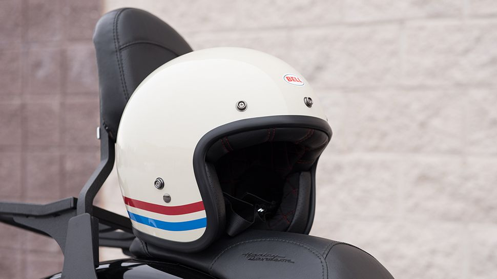 Bell Custom 500 Stripes Pearl White Helmet Review With Images