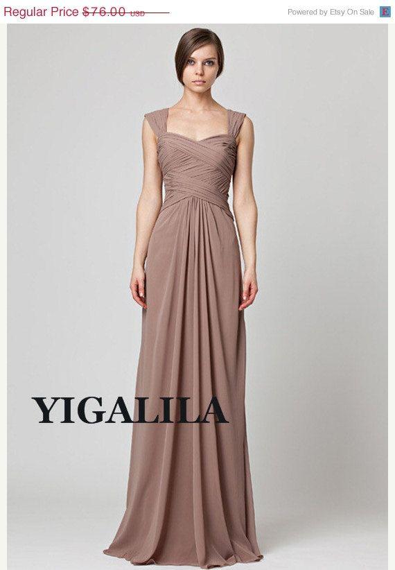 ON SALE Lady dress/bridesmaid dress/wedding dress/one-shoulder/A ...