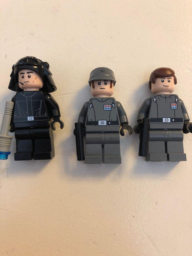 Lego Star Wars Imperial Officer Lot Of 3 Afflink Lego Minifigures