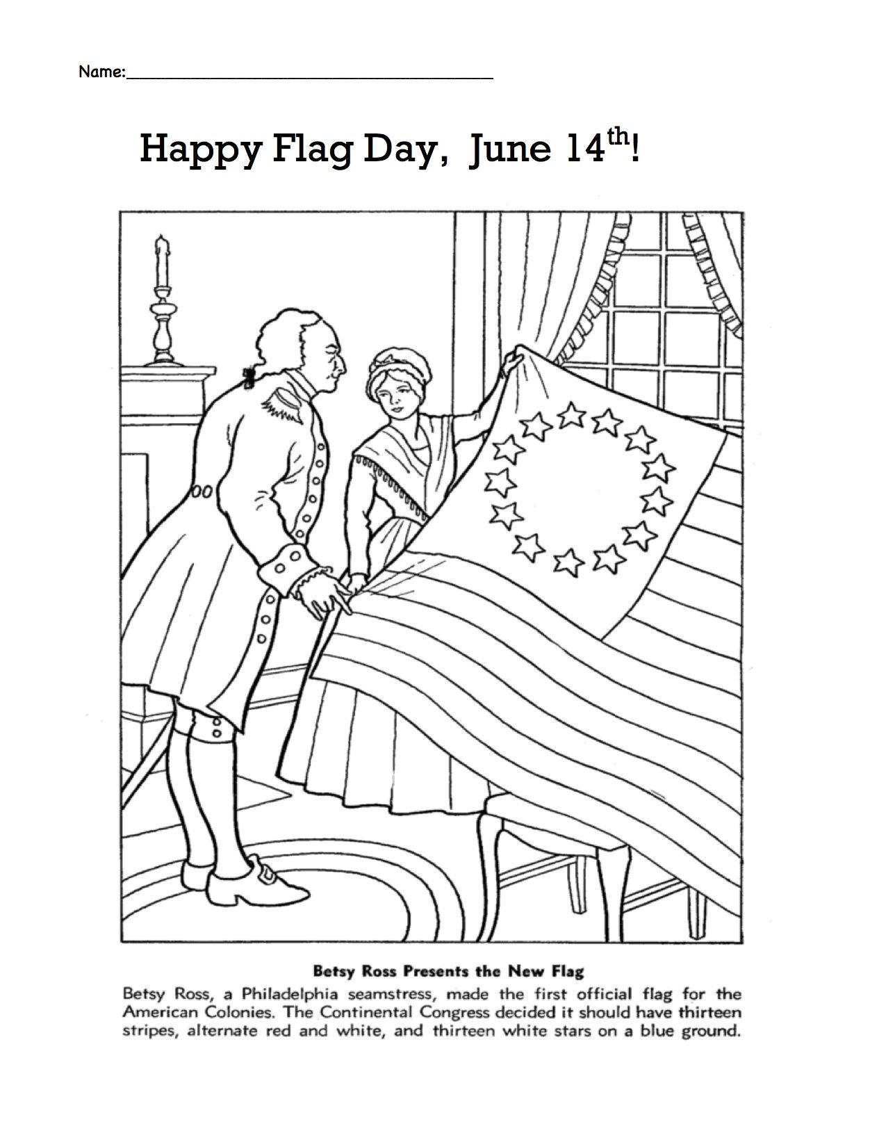 Flag Day June 14th Betsy Ross With Images