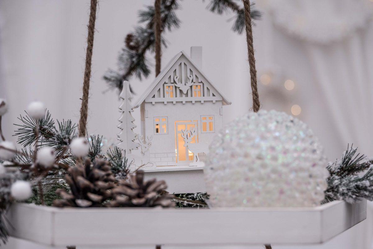 Collezioni Natale 2017: addobbi eleganti in bianco con led