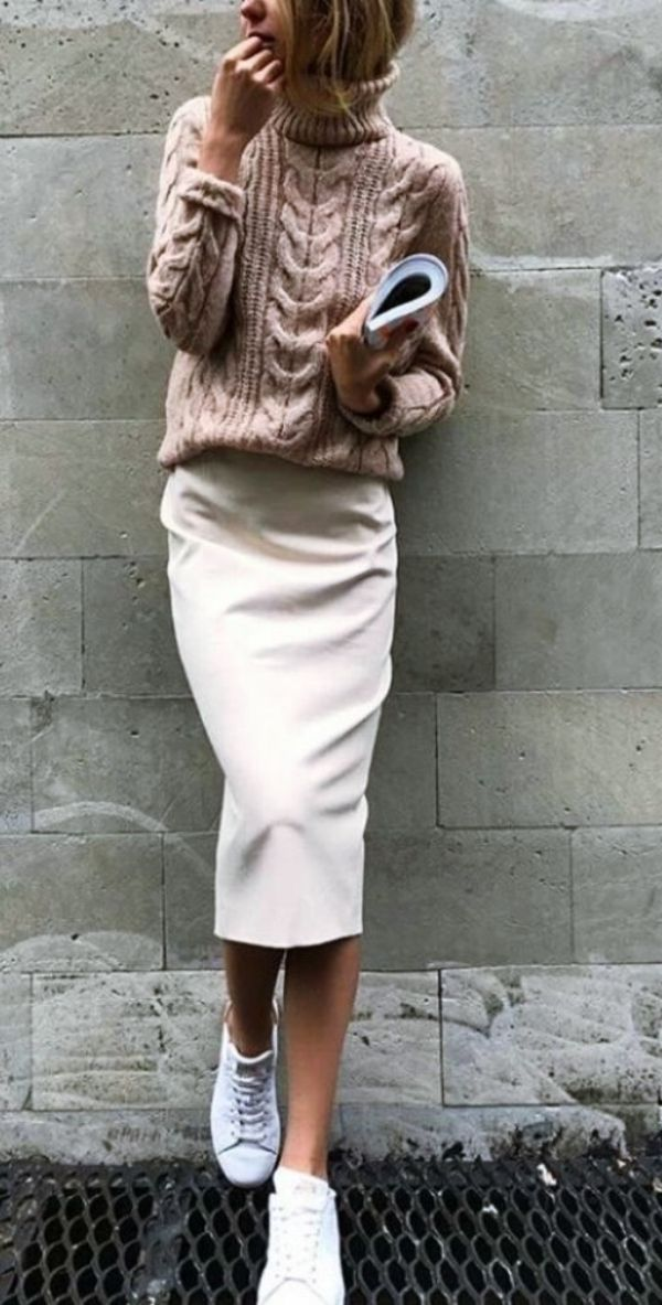 48 Fabulous Work Outfit Ideas With Sneakers and Look Professional
