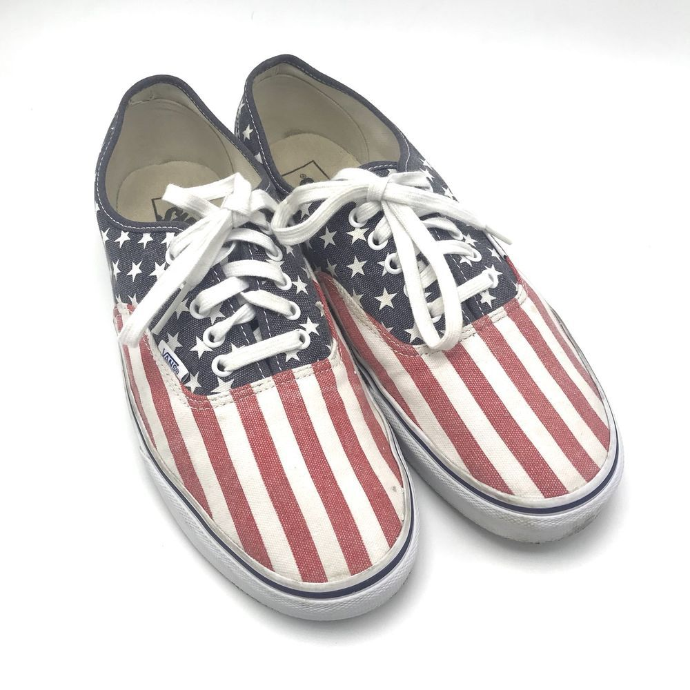 Stripes American Flag USA Skate Shoes