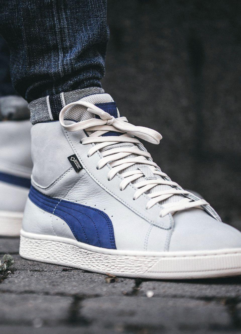 timeless design 8c8df 31c22 Puma Basket Mid 'Gore-Tex' 'grey / blue' (via Kicks-daily ...
