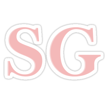 Selena Gomez Initials Message Us Before Buying Sticker By Wedesign47 Selena Gomez Selena Selena Gomez Drawing