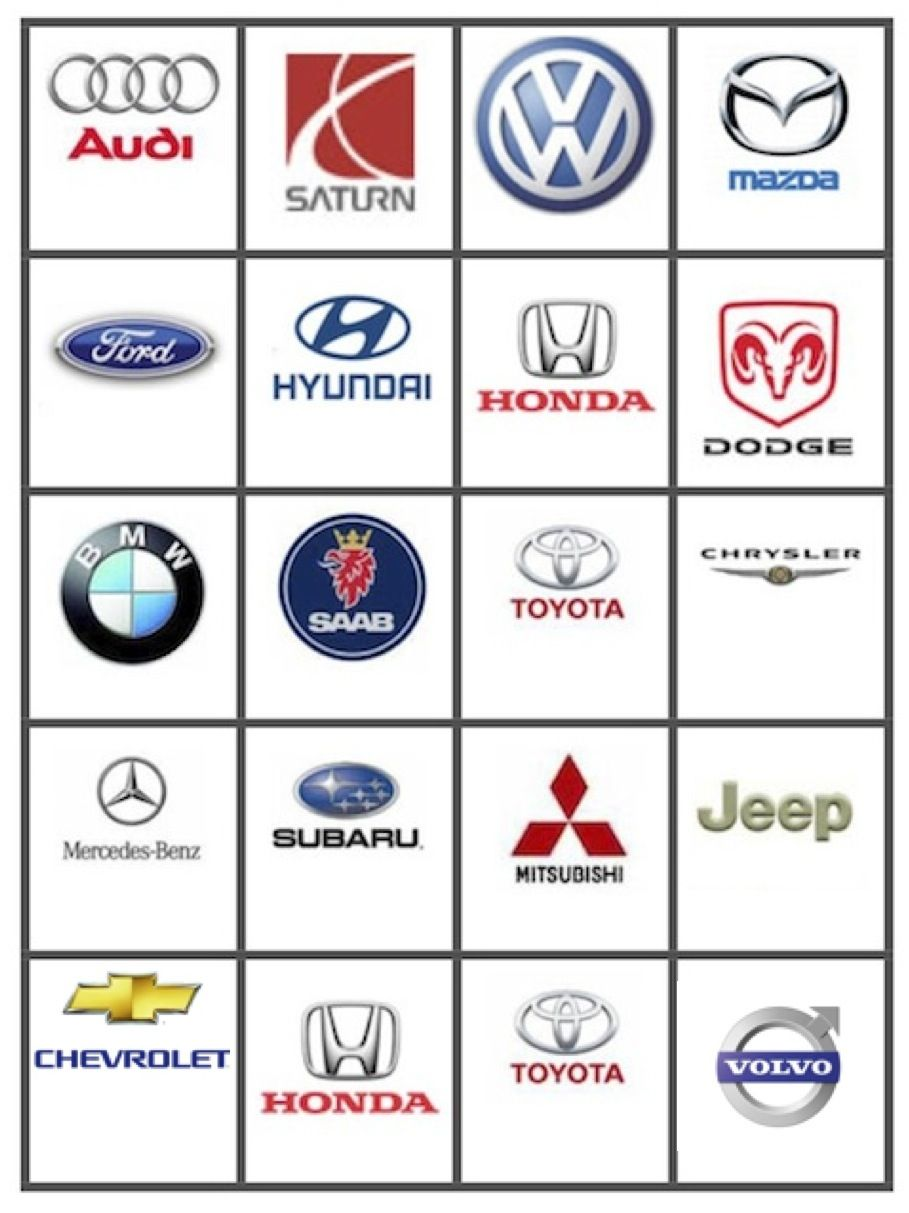 This is a photo of Resource Car Bingo Cards