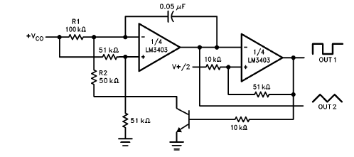 LM3403 Voltage Controlled Oscillator Circuit and Datasheet