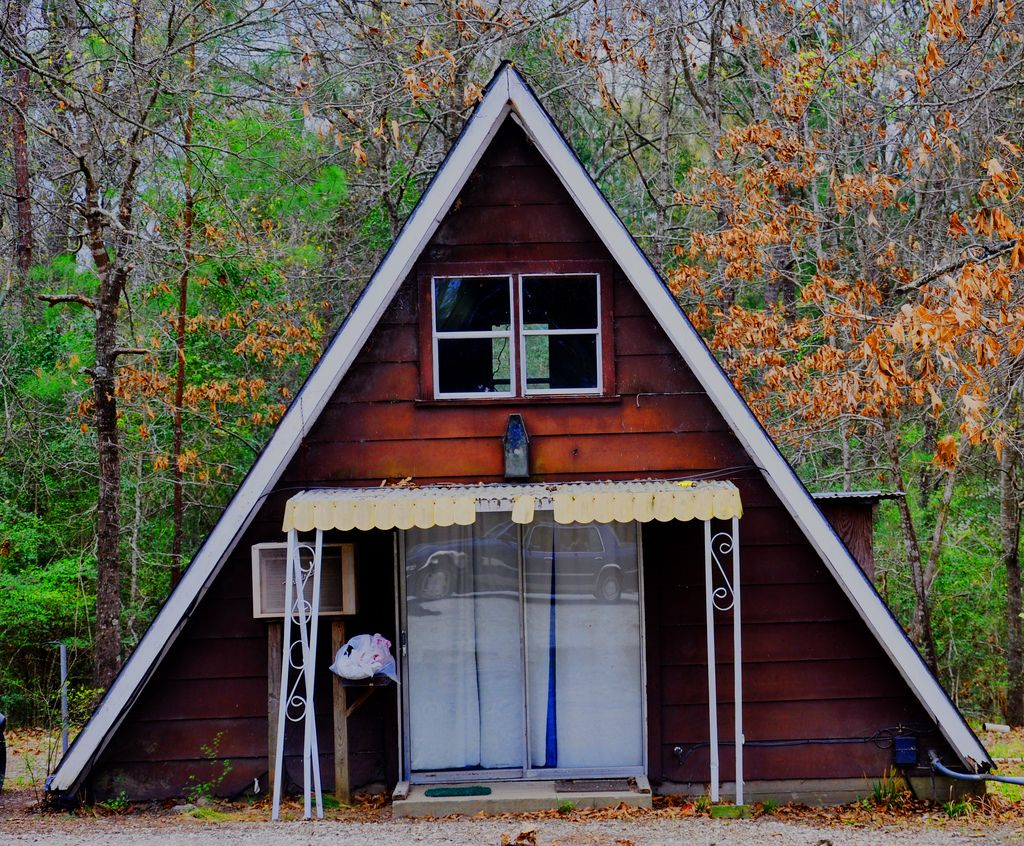 A-Frame in Walker County | Sliding glass door, Glass doors and Small ...