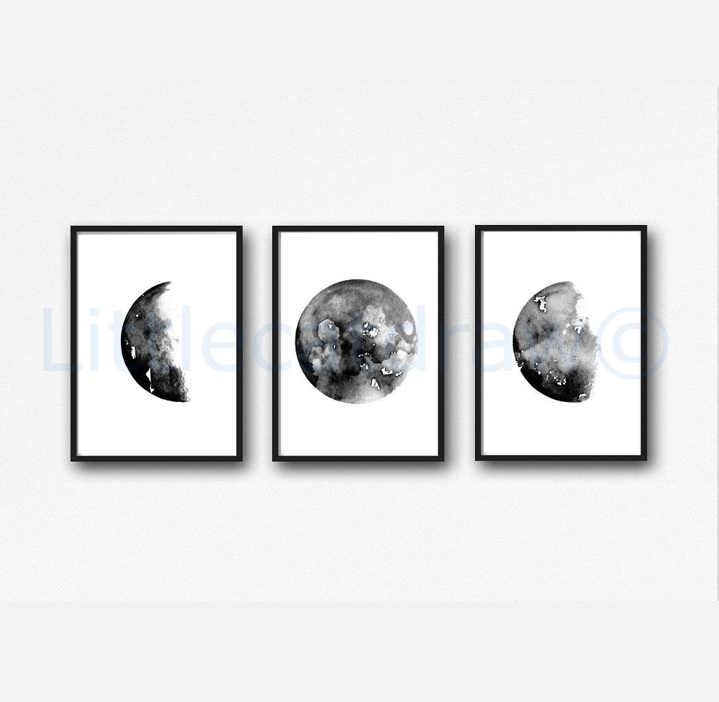Moon Phases PHOTO POSTER PRINT PICTURE Half Full Crescent Space NIGHT ART A4 //A3