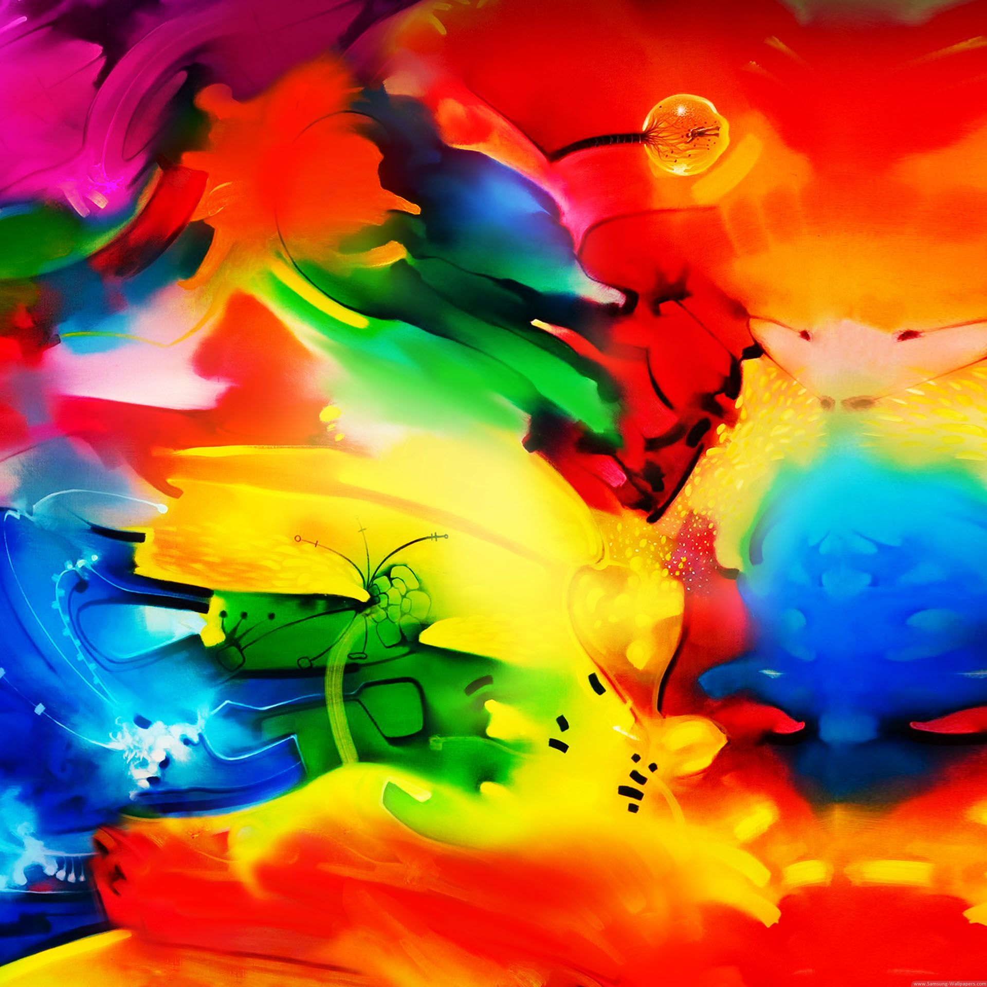Cool Color Abstract Galaxy Note 3 Official 1920x1920