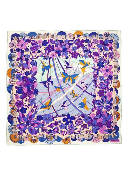 """Les nouveaux foulards """"Cities of the World"""" d'Emilio Pucci 3"""