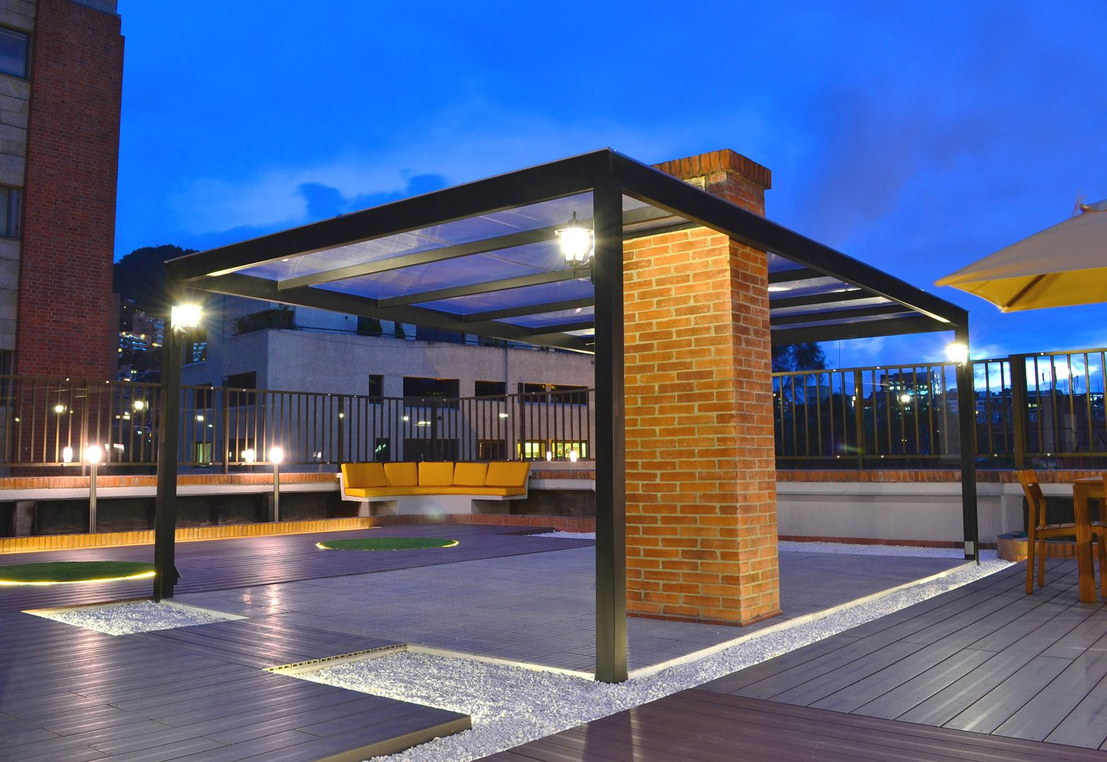 Terraza Edificio Golf Palace Residencial Propuesta De Diseño