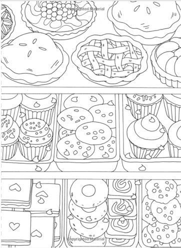 Adult Coloring Page Food Coloring Books Food Coloring Pages