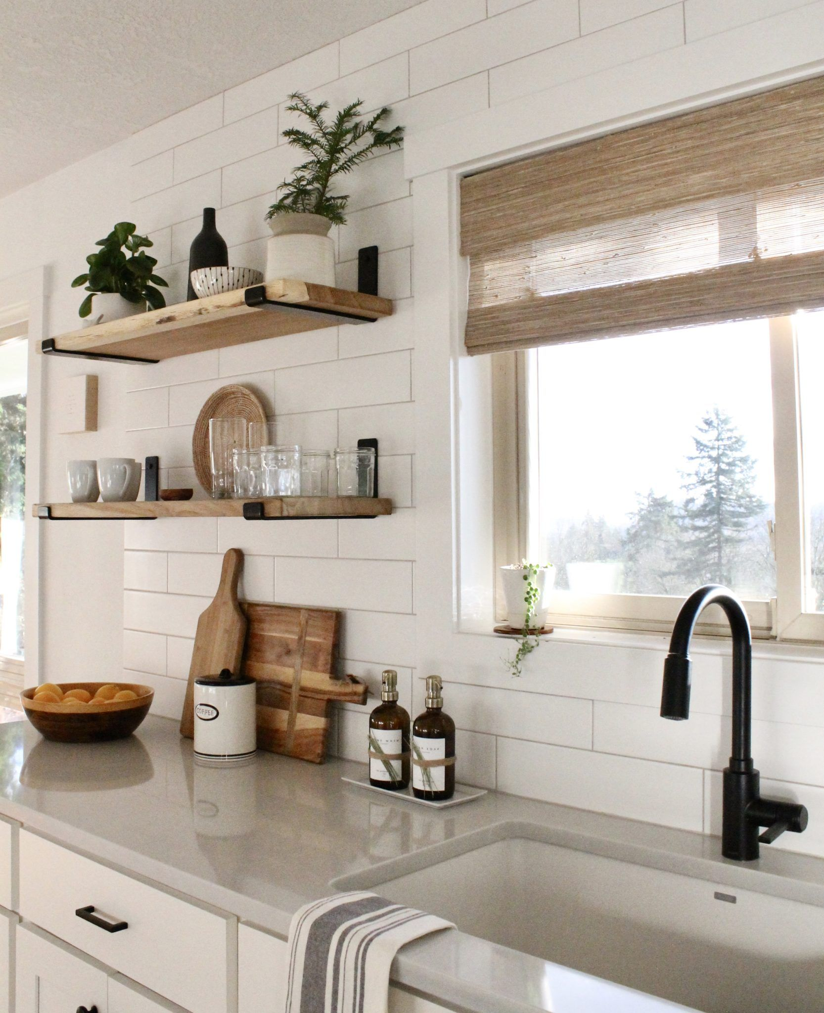 Bright Kitchen Remodel Before and After