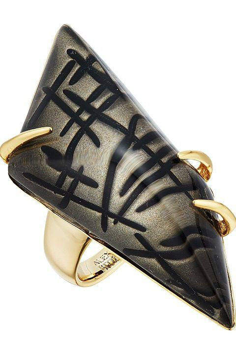 Alexis Bittar Futurist Ring (Rutilated Ash) Ring - Alexis Bittar, Futurist Ring, AB64R006-991, Jewelry Ring General, Ring, Ring, Jewelry, Gift, - Street Fashion And Style Ideas