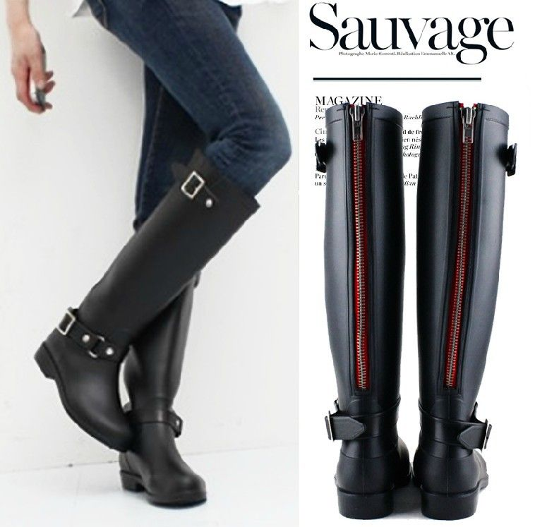 High Reputation Fashion Rubber Women Hunte Rain Boot Long ...
