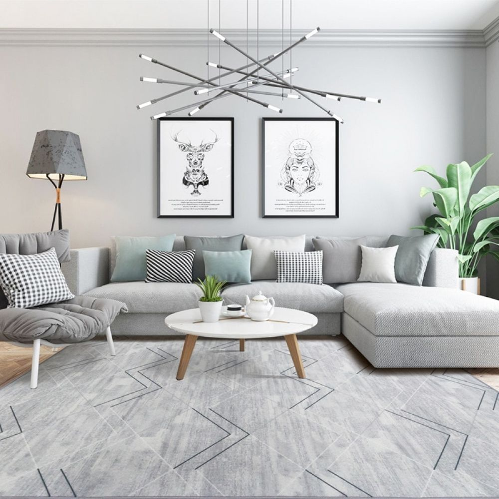 Modern Brief Geometry Carpets For Living Room Home Decor 2020