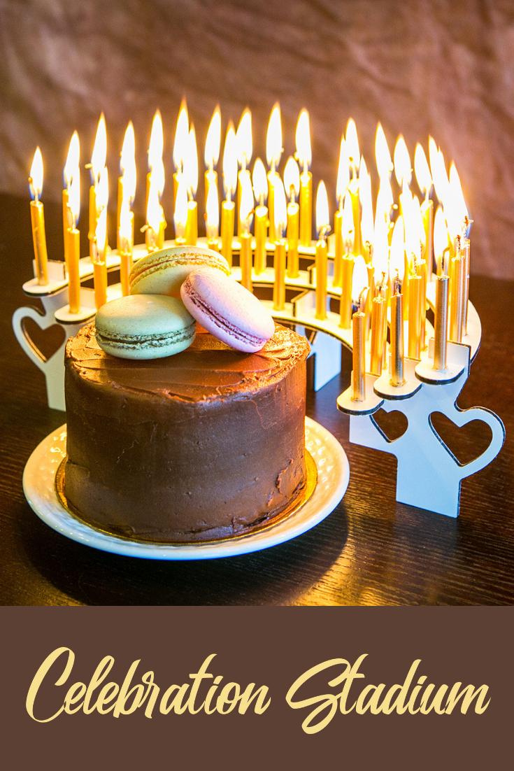 Super Celebration Stadium Candle Holders Match Up With Any Size Birthday Personalised Birthday Cards Veneteletsinfo