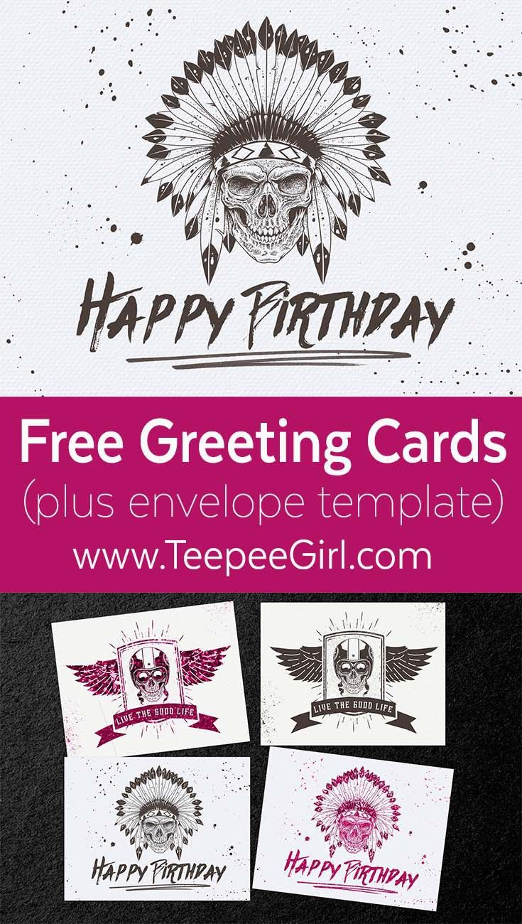 Free Skull Greeting Cards Free Printables Envelopes And Free