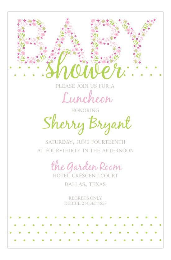 Baby Shower Words Pink Baby shower wording, Babyshower and - how to word baby shower invitations