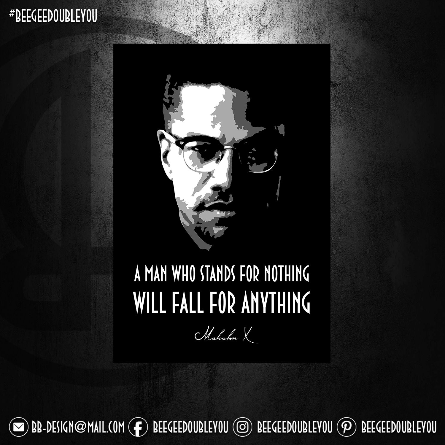 Malcolm X Poster Print By Bgw Beegeedoubleyou Displate In 2020 Poster Prints Print Artist Cool Artwork