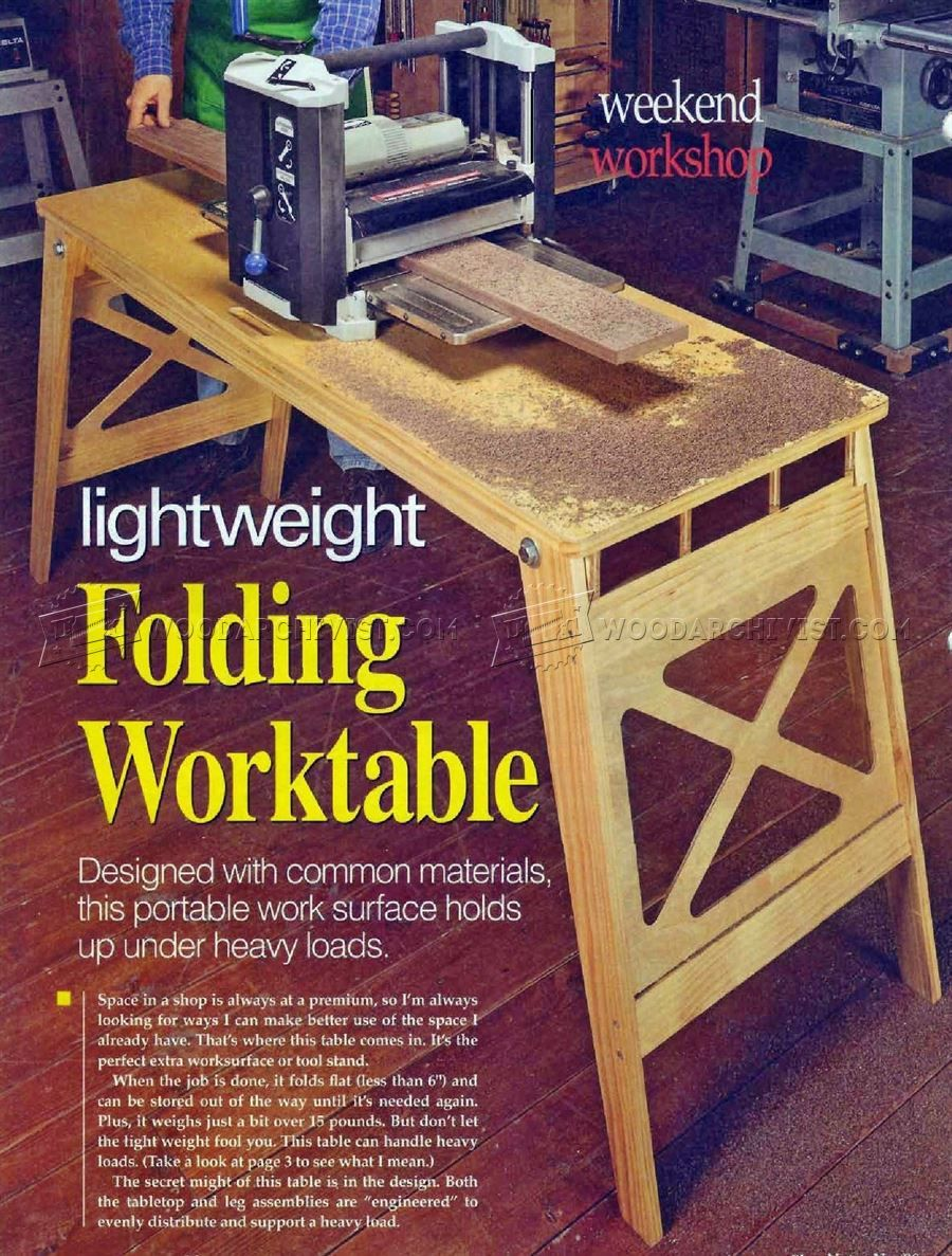 547 Folding Work Table Plans Solutions Tips And Tricks