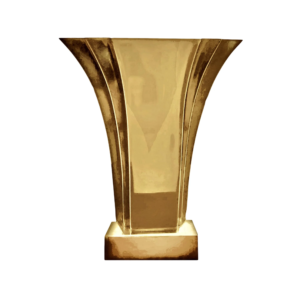 1970 S Art Deco Stiffel Brass Fan Shaped Boudoir Lamp Chairish Art Deco 1970s Art Deco