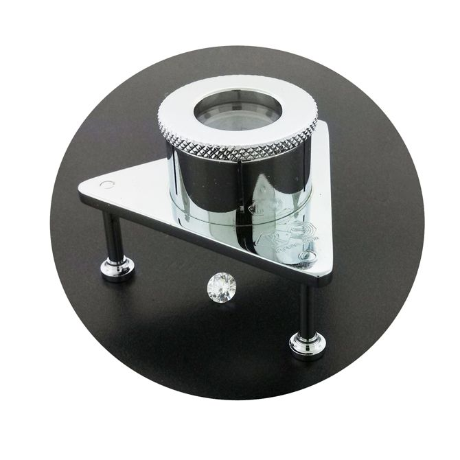 Lxl7418 From Rubin And Son This 10x Aplanatic Achromatic Table Loupe Makes Sorting And Grading Small Goods Or Stones A Tripod Table Glass Desk Lamps Tripod