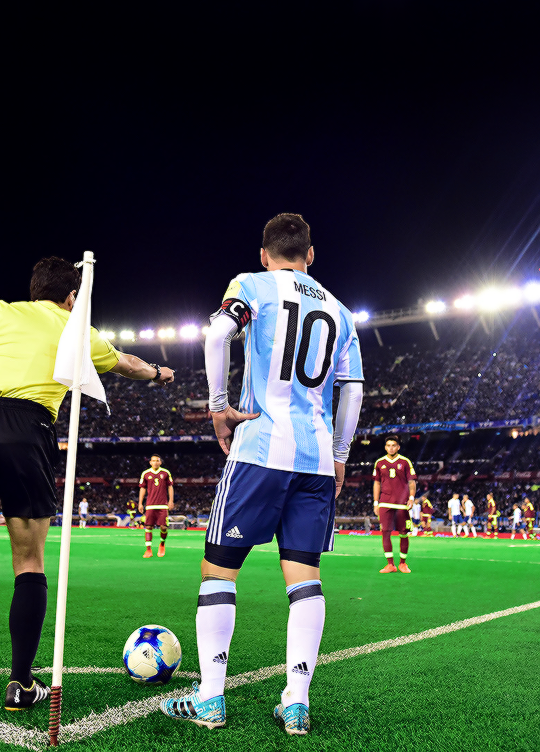 """""""Lionel Messi during a match between Argentina and ..."""