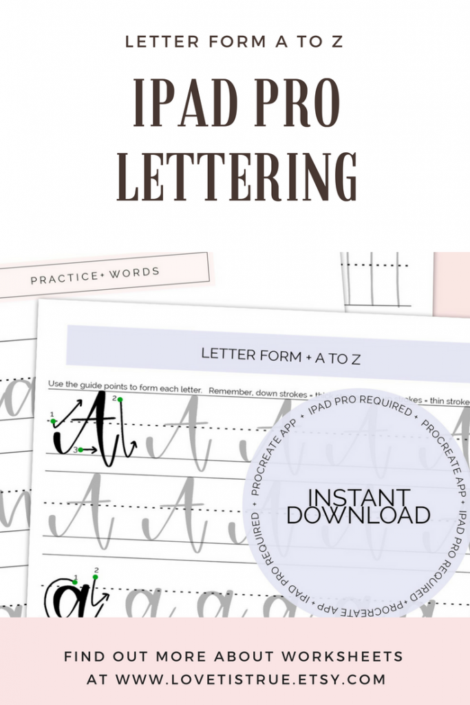 iPad Pro Lettering, Uppercase & Lowercase Brush Lettering