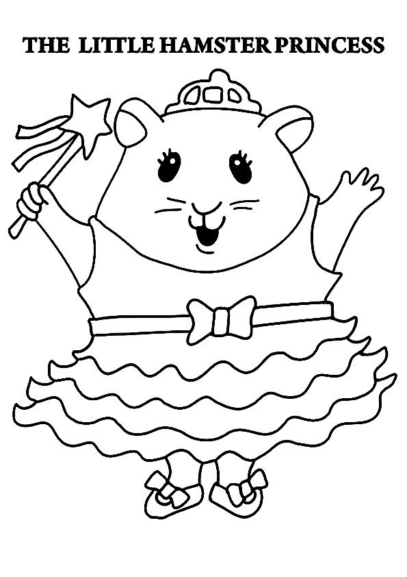 print coloring image | EH hamsters by June Eaton | Pinterest