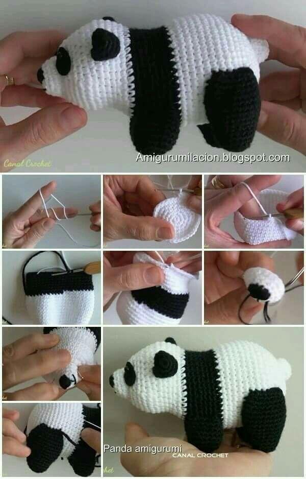 Amigurumi de oso panda paso a paso. | knitting | Pinterest | Osos ...