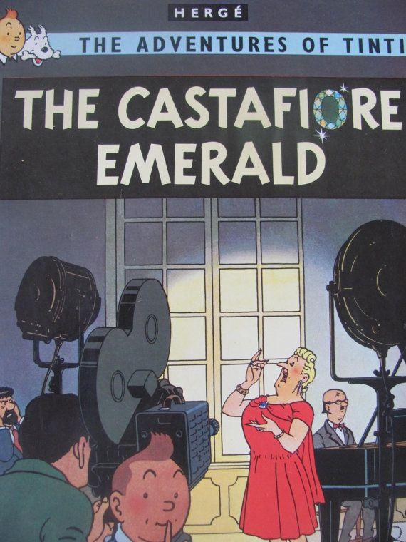 Vintage Book Tintin The Castafiore Emerald By Herge 1982 Magnet Paperback Tintin Las Aventuras De Tintin Y Portadas De Libros