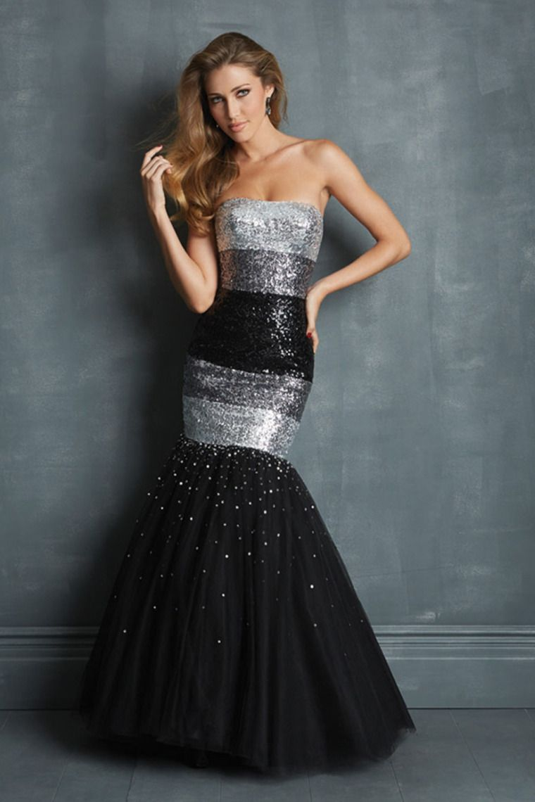 multi color trumpet strapless floor length tulle prom dress