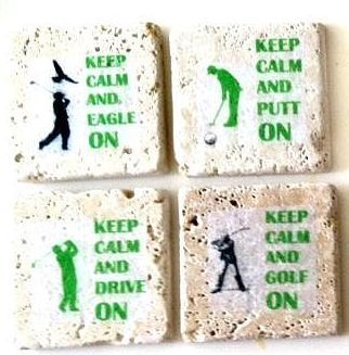 A set of coasters for your golfer.