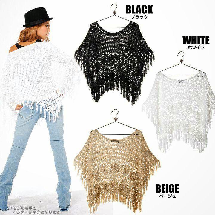 Inspirações de Croche com Any Lucy: Poncho .....met diagram | Poncho ...