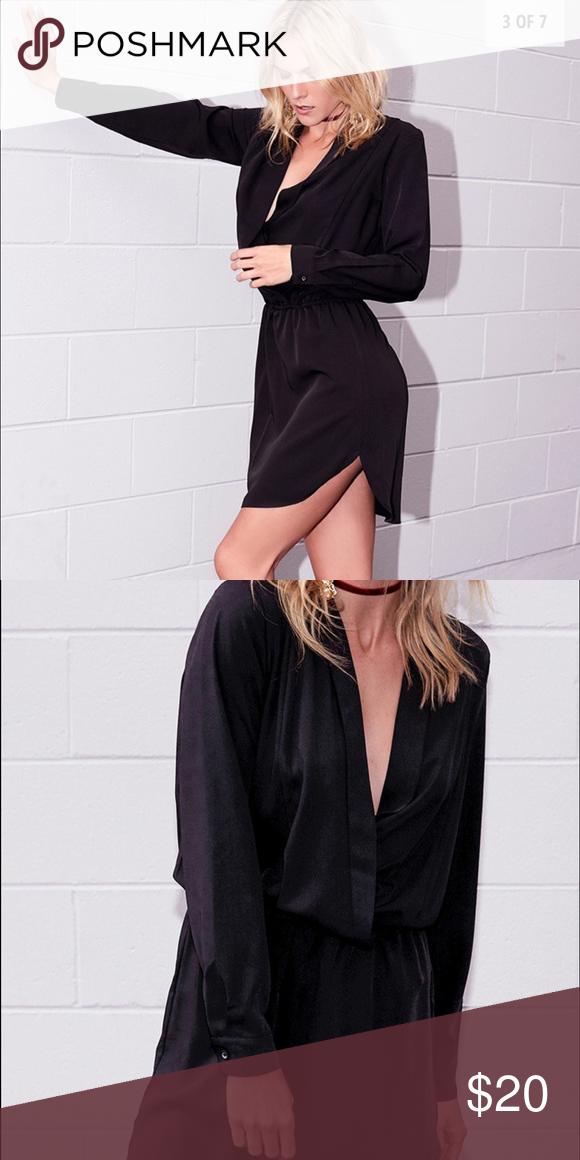 Black shirt dress Never worn beginning boutique Dresses Mini