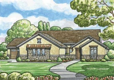 European Style House Plans - 2012 Square Foot Home , 1 Story, 2 ...
