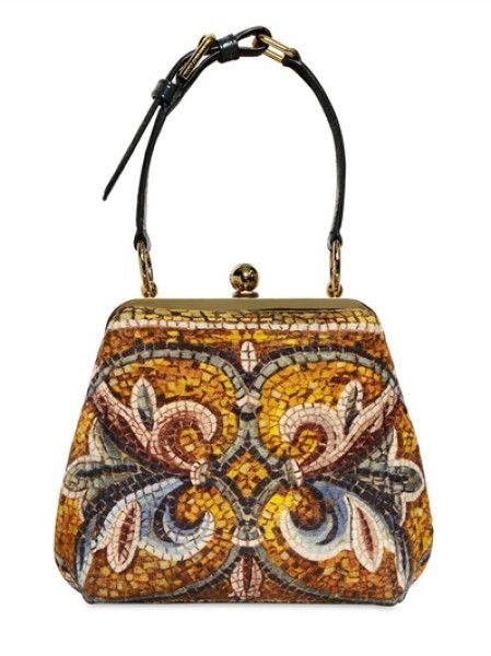 6029b283b6 Dolce & Gabbana Byzantine Mosaic Print Medium Agata Bag in Multicolor  (multi) - Lyst