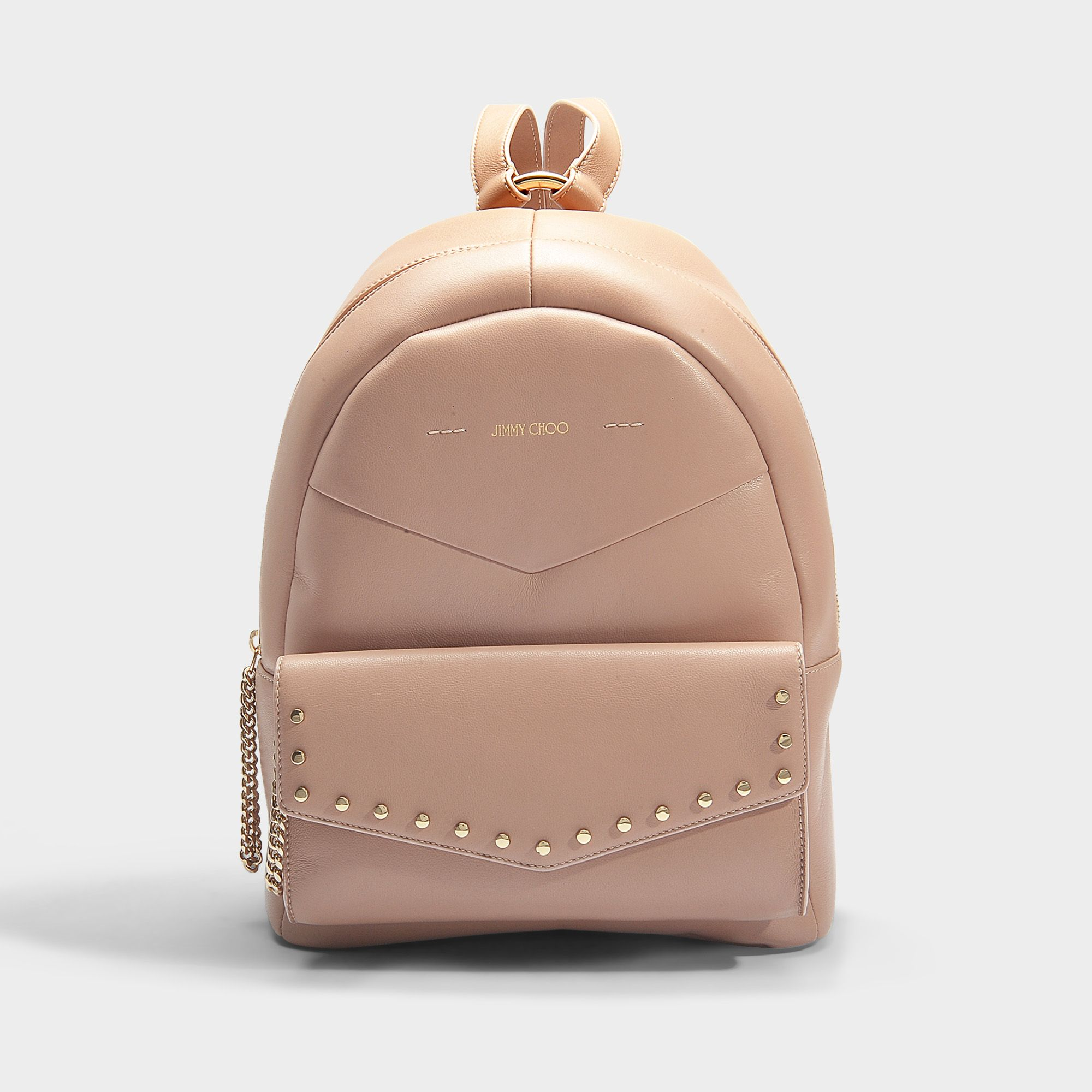 hot-selling authentic 2019 original authentic quality JIMMY CHOO Cassie Backpack in Black Calfskin. #jimmychoo ...
