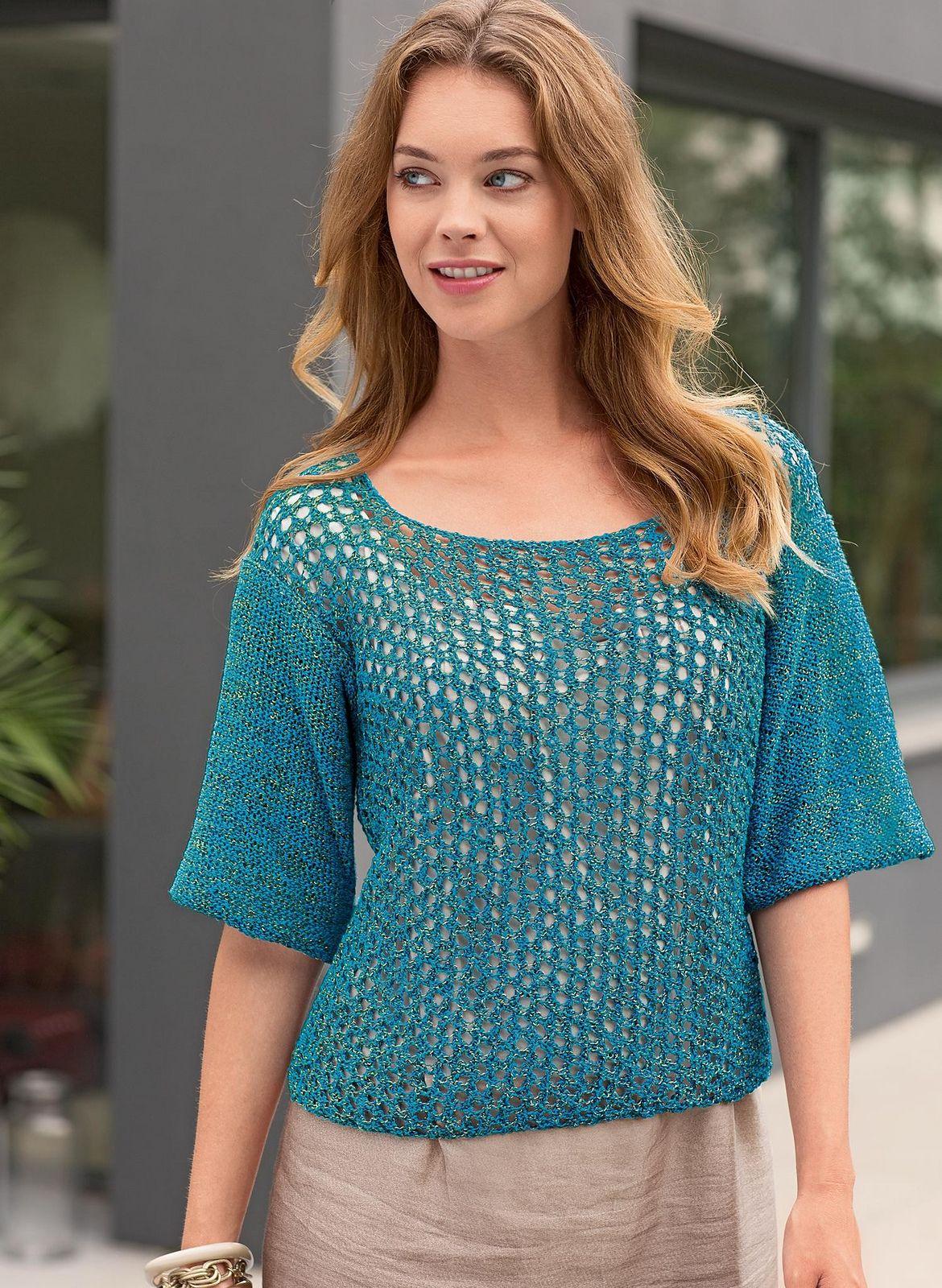 Ravelry: #27 3/4 Sleeves Lace Sweater by Bergère de France | Women\'s ...
