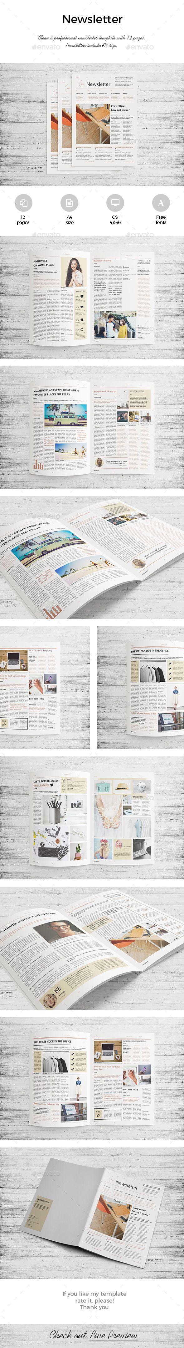 Newsletter Corporate 12 Pages | Revistas, Diario y Modelo