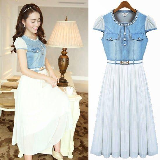 169607cdc5 Resultado de imagen para vestidos largos estilo coreano